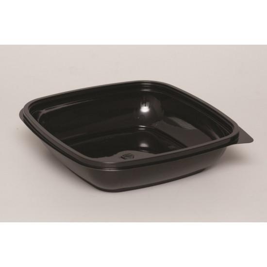 Контейнер квадратный PET 1000мл | Черный 190*190*51,5мм