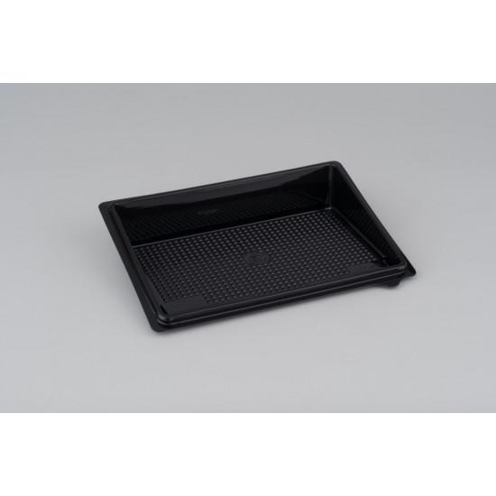 Контейнер PET для суши малый (витрина, дно, без делений) | Черный 183*128*32мм