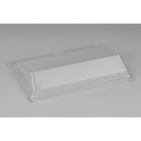 Крышка PET для малого контейнера-витрины суши | Прозрачная 183*128*32мм