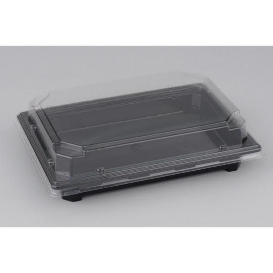 Контейнер PET для суши большой | Черный 242*168*30мм