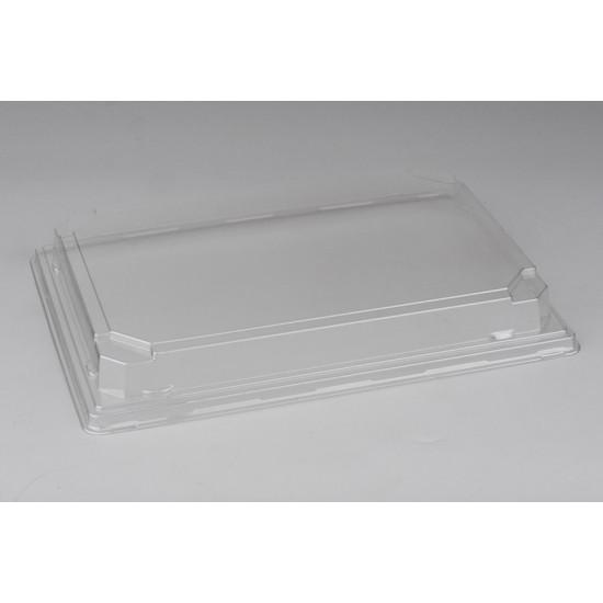 Крышка PET для большого контейнера суши | Прозрачная 242*168*30мм