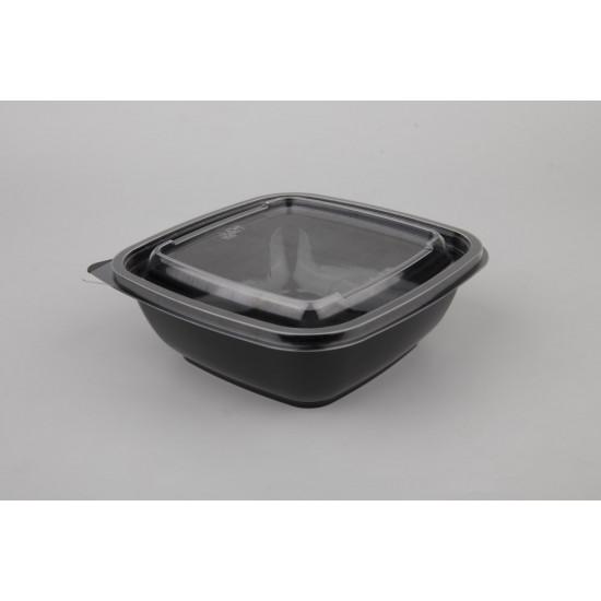 Контейнер квадратный PET 375мл | Черный 160*160*30мм
