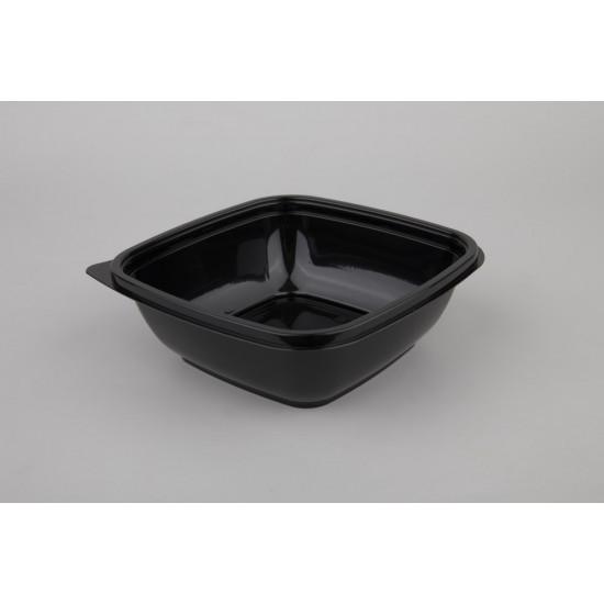 Контейнер квадратный PET 625мл | Черный 160*160*50мм