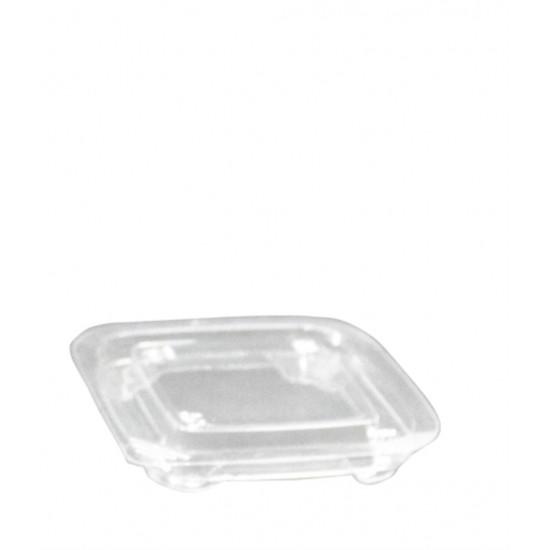 Крышка плоская PET для контейнера (Кубик Лондон) | Прозрачная 93*93*15мм