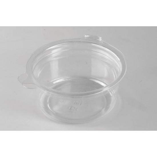 Соусник круглый PET с неразъемной крышкой 50мл | Прозрачный Ø=64мм