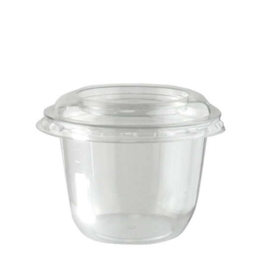 Контейнер PET для десертов, соус 180мл | Прозрачный Ø=76мм