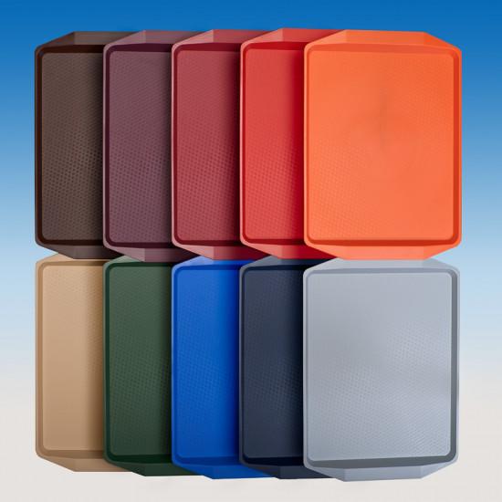 Поднос для фаст фуд PS малый | Цвет на выбор 420*300*15мм
