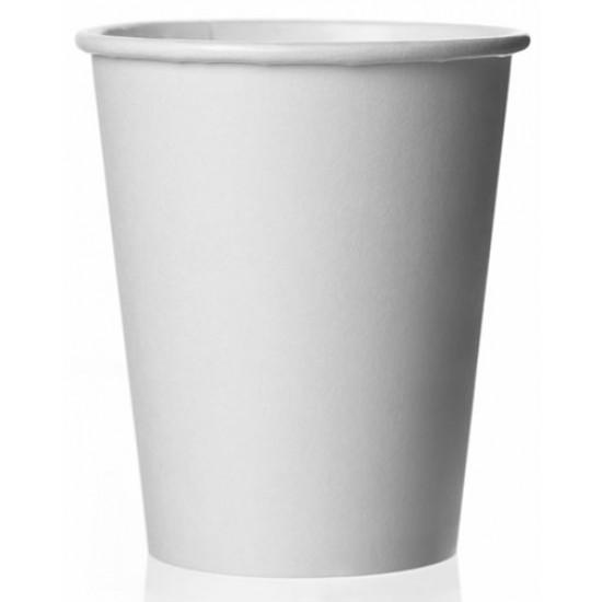 Стакан бумажный однослойный 230мл   Белый Ø=77мм, h=90мм