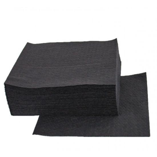 Салфетка бумажная барная однослойная 24*24см | Черная (300шт/уп)