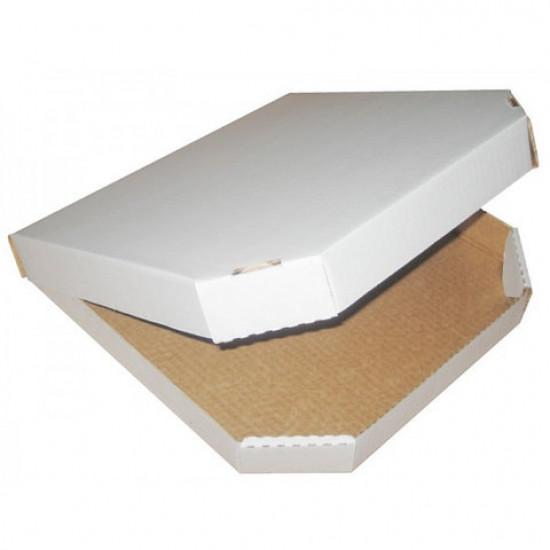 Коробка для пиццы из гофрокартона | Белый 320*320*40мм