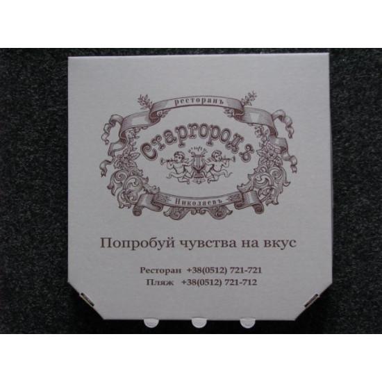 Коробка для пиццы из гофрокартона | Белый 350*350*40мм