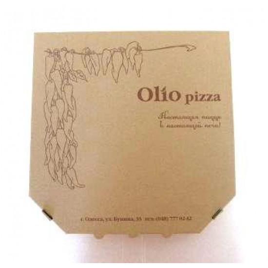 Коробка для пиццы из гофрокартона | Бурый 450*450*40мм