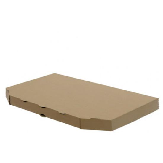 Коробка для половинки пиццы из гофрокартона | Бурый 160*320*30мм