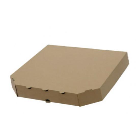 Коробка для пирогов из гофрокартона | Бурый 270*270*60мм