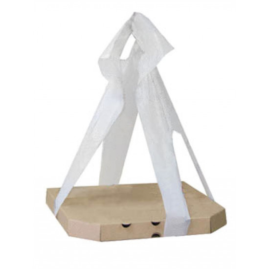 Переноска для коробок под пиццу PET размером от 300*300мм до 380*380мм | Белый