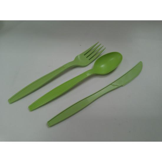 Нож столовый из кукурузного крахмала одноразовый 19см | Зеленый