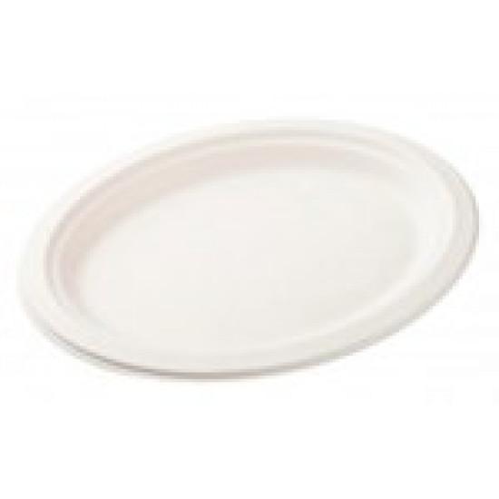 Тарелка из сахарного тростника Ø=230мм | Белая