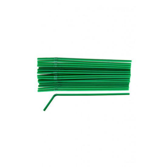 Трубочки BIO с коленом Ø=6мм, d=260мм | Темно-зеленые (150шт/уп)